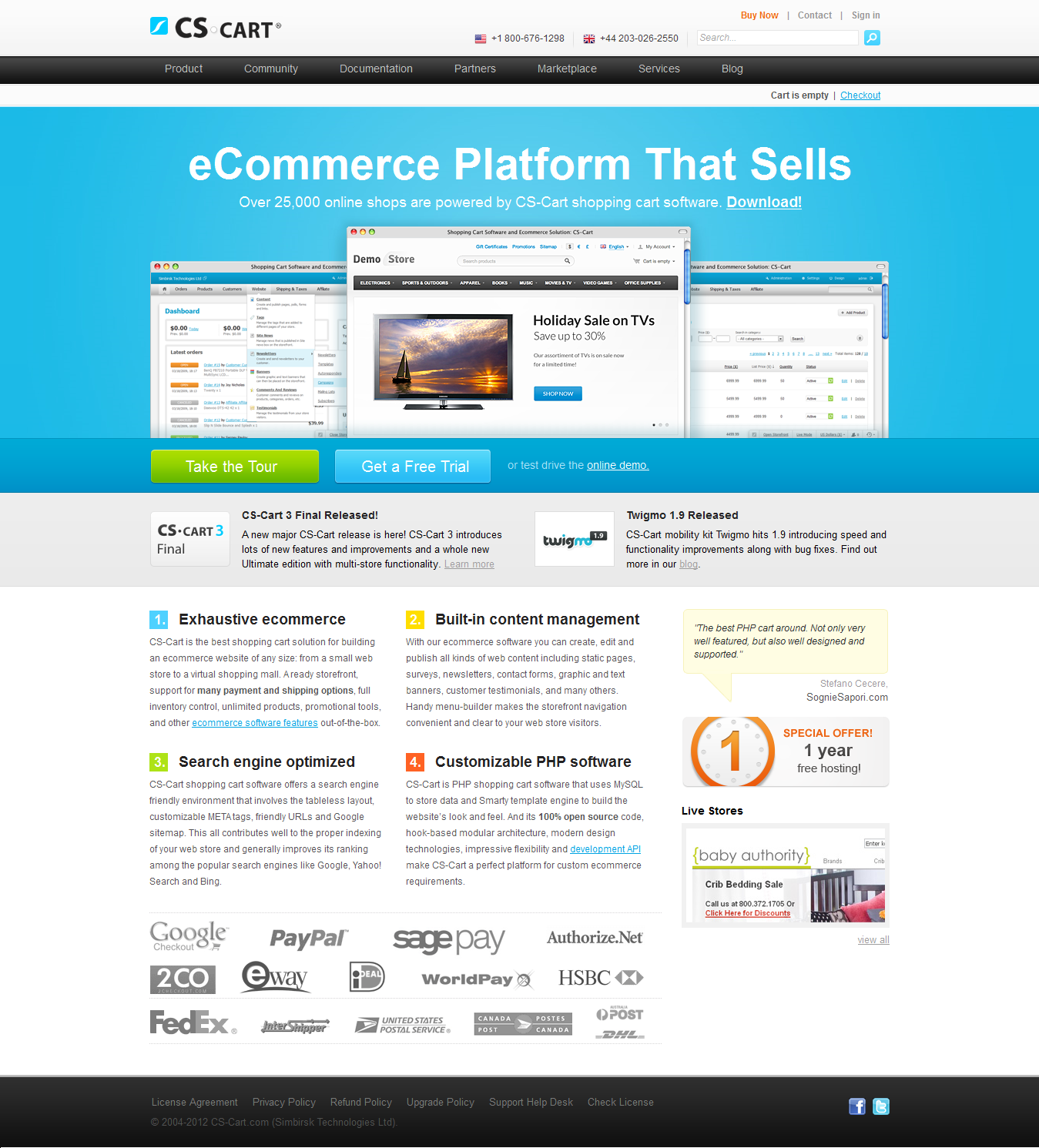 yahoo ecommerce templates - advantages of cs cart ecommerce software to build your own