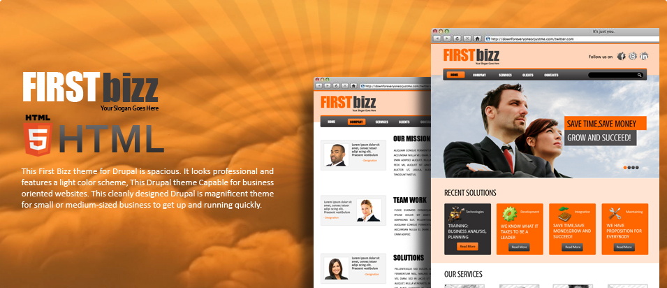 drupal 7 view template - first bizz free drupal 7 template