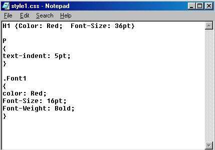 how to write html and css in notepad