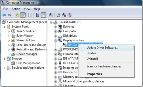 Windows and Android Free Downloads : Update display adapters