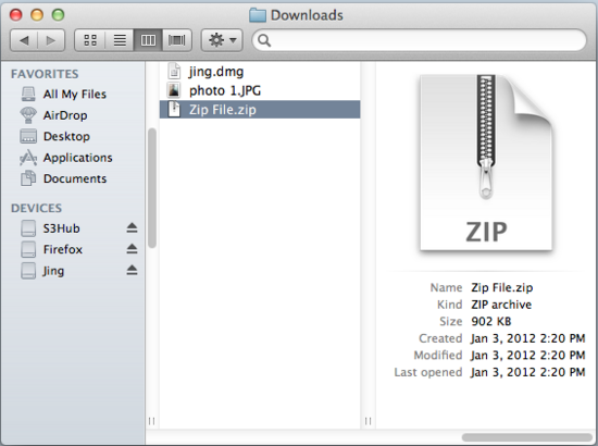 Jzip File Extraction Software